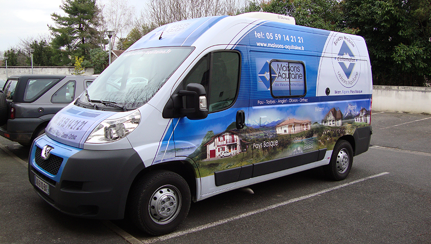 Habillage véhicule utilitaire covering-impression numérique